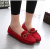 Women Fashion Red Suede Matte Comfortable Loafer Flats WF-05RD