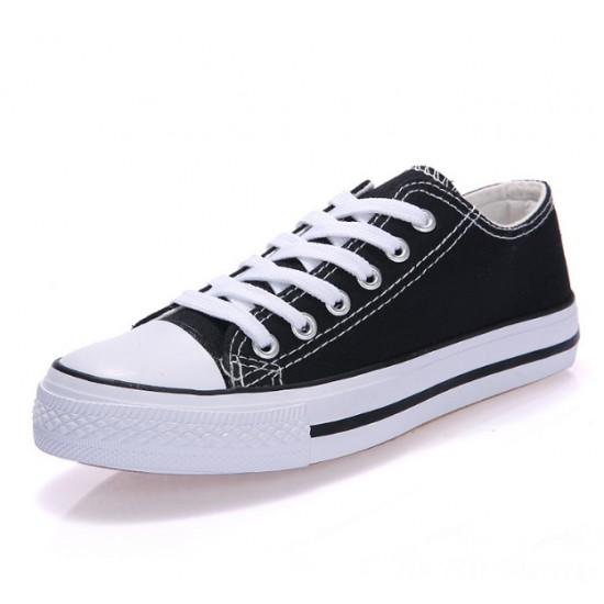 Men Black Color Comfty Canvas Shoes MS-03BK image