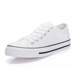 Men White Color Comfty Canvas Shoes MS-03W