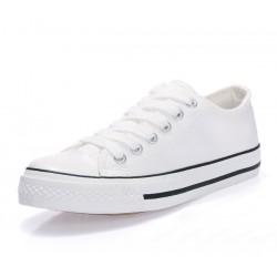 Men White Color Comfty Canvas Shoes MS-03W