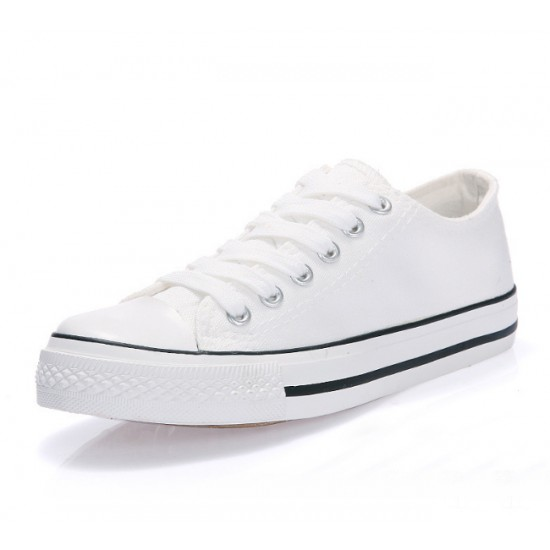 Men White Color Comfty Canvas Shoes MS-03W image