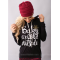 European Women Fashion  Quoted Long Hoodie H-09BK