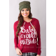 European Women Fashion Quoted Red Long Hoodie H-09RD