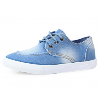 Women Light Blue Denim Canvas Sneaker Shoes S-13LB