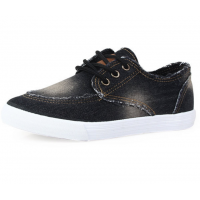 Women Black Denim Canvas Sneaker Shoes S-13BK