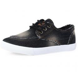 Women Black Denim Canvas Sneaker Shoes S-13BK
