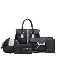 Women Latest Fashion Bags Package 6 Pieces Handbags  WB-02BL