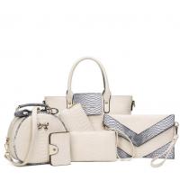 Six Pack Handbag Set Fashionable Ladies American Style White WB-05