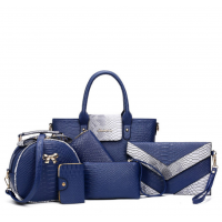 Six Pack Handbag Set Fashionable Ladies American Style Navy Blue WB-05BL