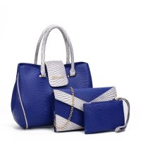 Women Fashion Blue Three Piece Crocodile Shoulder Bag WB-09BL