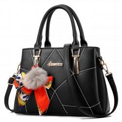 Women Fashion Black Large Korean Version Messenger Hand Bag WB-10BK