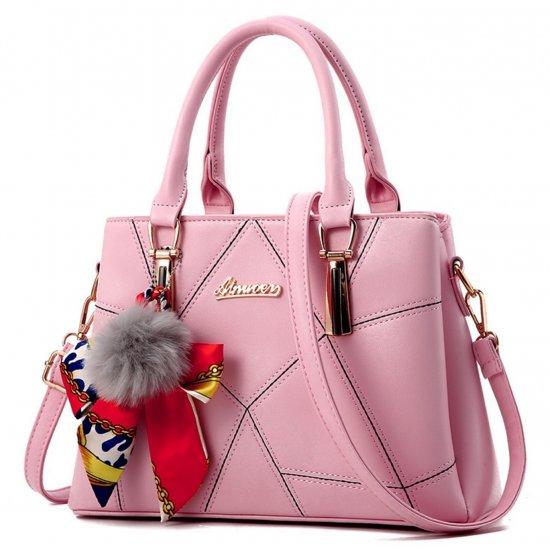 Women Fashion Black Large Korean Version Messenger Hand Bag WB-10PK image