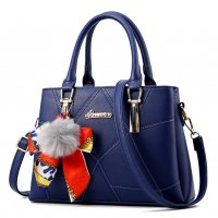 Women Fashion Blue Large Korean Version Messenger Hand Bag WB-10BL