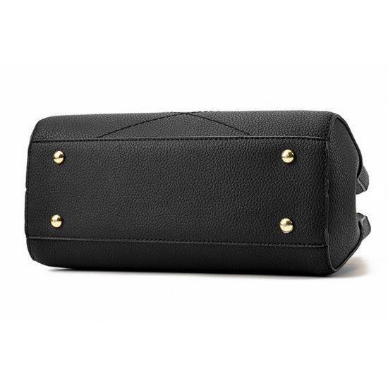 Wome Black Leisure Shoulder Messenger Bag WB-13BK image