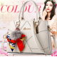 Women Fashion Cream Large Korean Version Messenger Hand Bag WB-10CR image