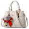 Women Fashion Cream Large Korean Version Messenger Hand Bag WB-10CR