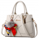 Women Fashion Cream Large Korean Version Messenger Hand Bag WB-10CR