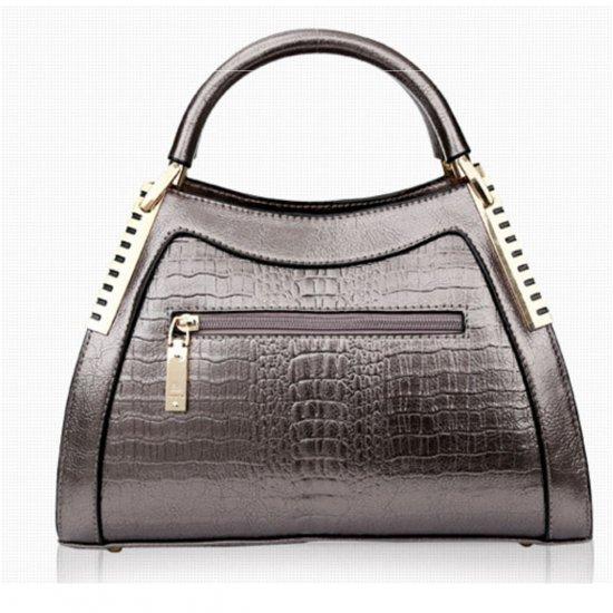 Women Latest Design Chocolate Crocodile Pattern Handbag WB-12CH