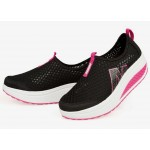 Women Black High Bottom Breathable Mesh Sports Joggers Shoes S-19BK| image