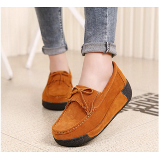 Women Brown High Wedge Casual Shoes S-16BR