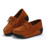 Women Brown High Wedge Casual Shoes S-16BR|image