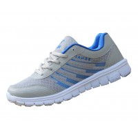 Women Gray With BLue Shades Sports Breathable Air-Cushioned Joggers Shoes S-21BL