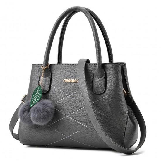Wome Dark Grey Leisure Shoulder Messenger Bag WB-13DG image