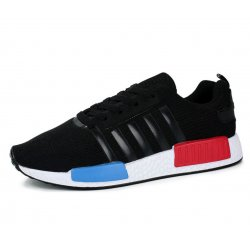 Unisex NMD Style Breathable Black Sports Shoes S-25BK