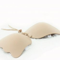 Women Cream Color Strapless Backless Invisible Bra IB-01C