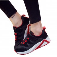 Women Casual Black with Red Shade Sports Shoes S-30BK