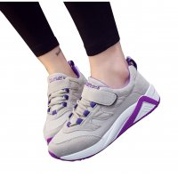 Women Casual Gray with Purple Shade Sports Shoes S-30GR
