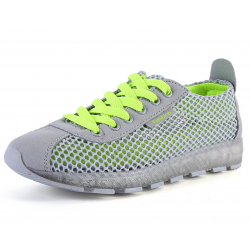 Women Hot Grey Mesh Breathable High Sole Sports Shoes S-43G