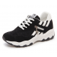 Women Black with White Shade Breathable Running Sports Shoes S-44BW