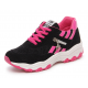 Women Black with Pink Shade Breathable Running Sports Shoes S-44BP