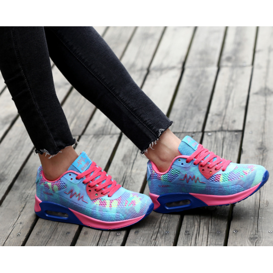 Summer Women Blue Sports Breathable Joggers Walk Shoes S-45BL image