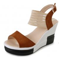 Women Korean Fashion Brown High Wedge Sandals S-41BR
