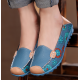 Women Blue Casual Comfortable Soft Mom Shoes Loafer Flats S-37BL image
