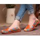 Women Orange Casual Comfortable Soft Mom Shoes Loafer Flats S-37OR image