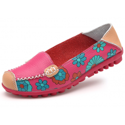 Women Pink Casual Comfortable Soft Mom Shoes Loafer Flats S-37PK