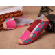Women Pink Casual Comfortable Soft Mom Shoes Loafer Flats S-37PK image