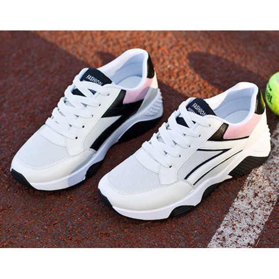 Women White Casual Jogging Breathable Sports Shoes S-32W image