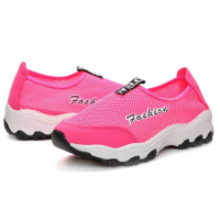 Women Mesh Breathable Light Pink Sports Shoes S-47P