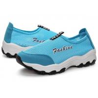Women Mesh Breathable Light Blue Sports Shoes S-47BL