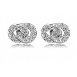 Woman Fashion Silver Wholesale Micro-Set Number 8 Earrings E-13S