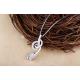 Woman Fashion Silver Hanging Rose Design Pendant N-01S image