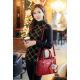 Women Fashion Red Large Korean Version Messenger Hand Bag WB-10RD image