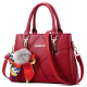 Women Fashion Red Large Korean Version Messenger Hand Bag WB-10RD