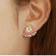 Woman Fashion Silver Small Daisy Flowers  Earrings   E-20G
