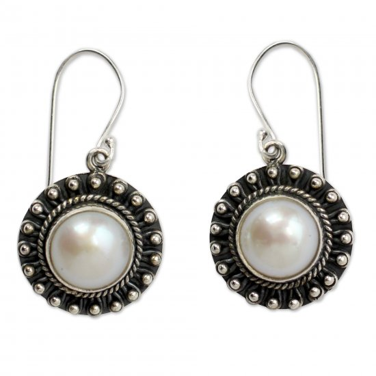 Sterling Silver and Pearl Earrings Women's Jewelry ANDE-07