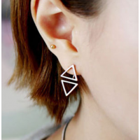 Woman Fashion SIlver Triangle star Female Earrings  E-04S